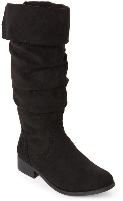 de162697426 Kids Girls) Black Patra Tasseled Slouchy Boots | shoes | Kids boots ...