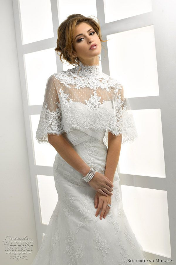sottero midgley wedding dress with cape