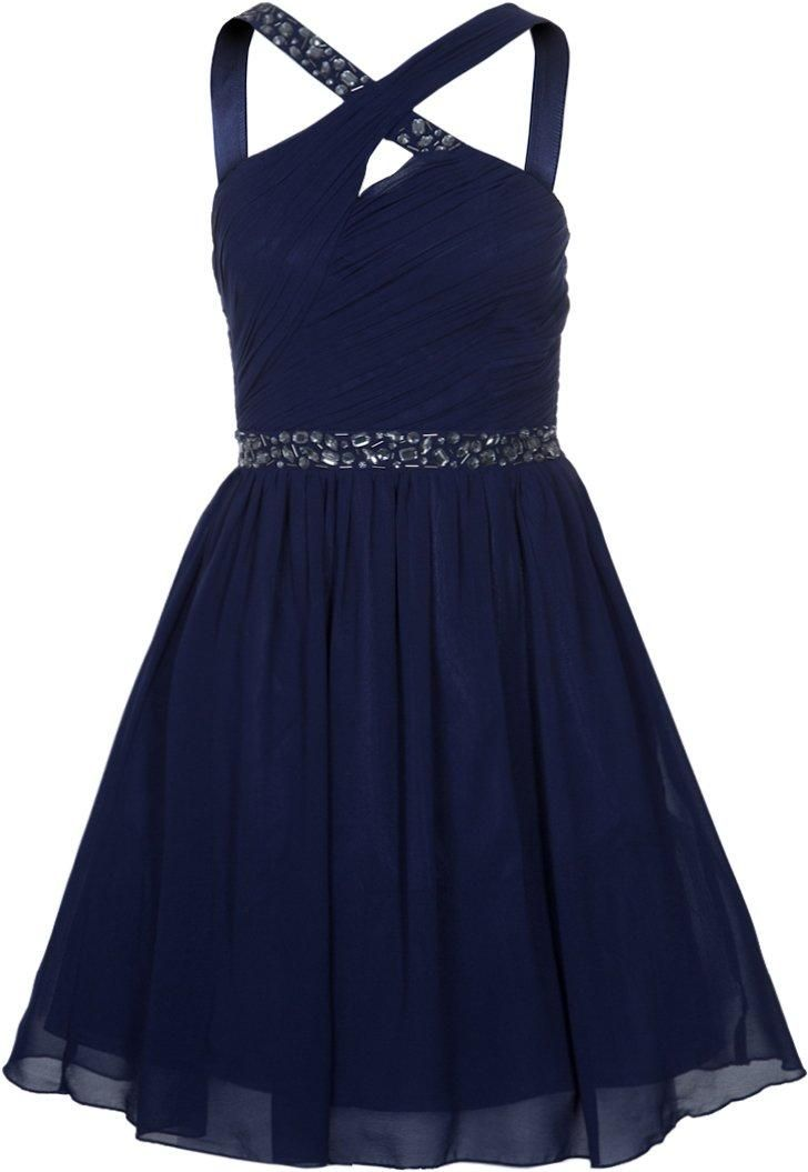 Lange Kleider Abiball Little Mistress Cocktailkleid / Festliches Kleid Blue