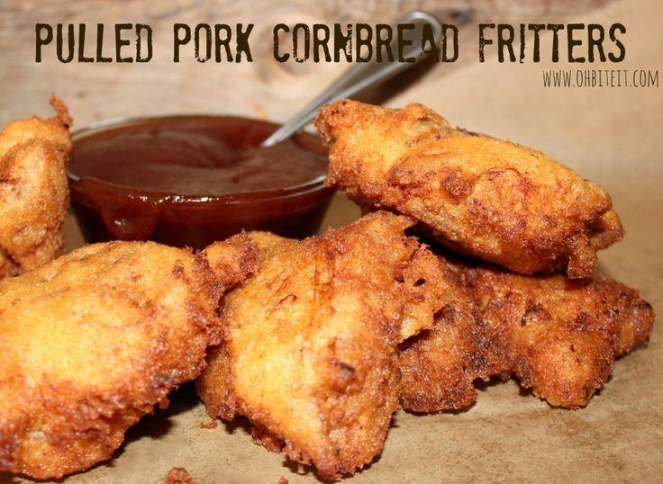 ~Pulled Pork Cornbread Fritters!