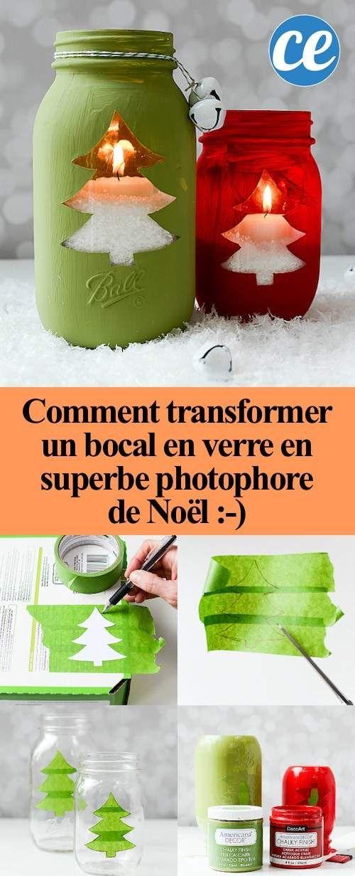 Comment Transformer un Bocal en Verre En Superbe Photophore De Noël.