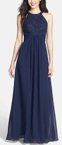 Beaded lace and chiffon gown http://rstyle.me/n/mf77znyg6