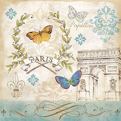 RB7408CC <br> Le Papillon Paris II <br> 12x12