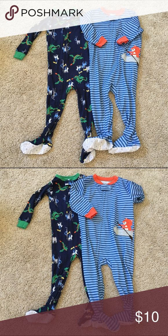 Carter's Lot of 2 Footies Both in great condition with no flaws. Size 18 months. Carter's One Pieces Footies