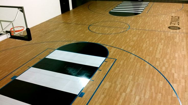 24 best home multi sport basketball game courts images on for Custom indoor basketball court