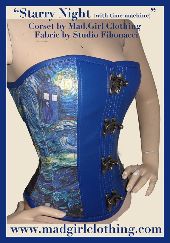 Art Inspired Corsets by MadGirl Clothing by pendragoncostumes, $195.00  210lb squat.