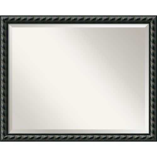 159 pequot black wall mirror large amanti art rectangle mirrors home decor