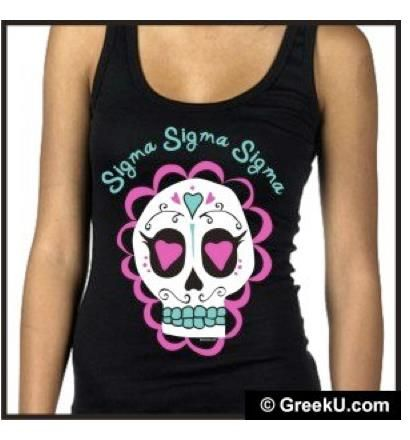 tri sigma for day of the dead, what a great shirt for San Antonio