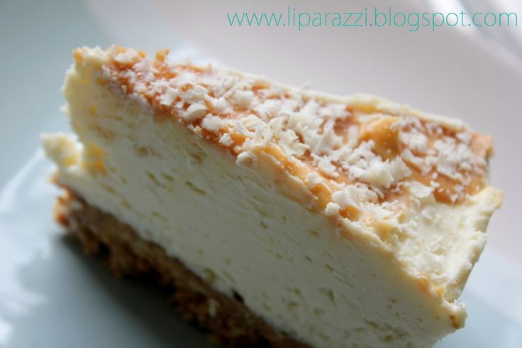 White Chocolate and Ginger Cheesecake www.liparazziblog.com