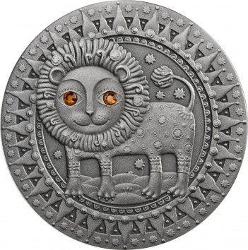 Srebrna Moneta - Lew, 20 rubli, Seria: Znaki zodiaku