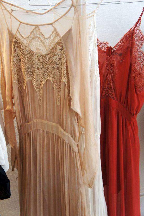 Lace silk dress's designed by Magali Pascal