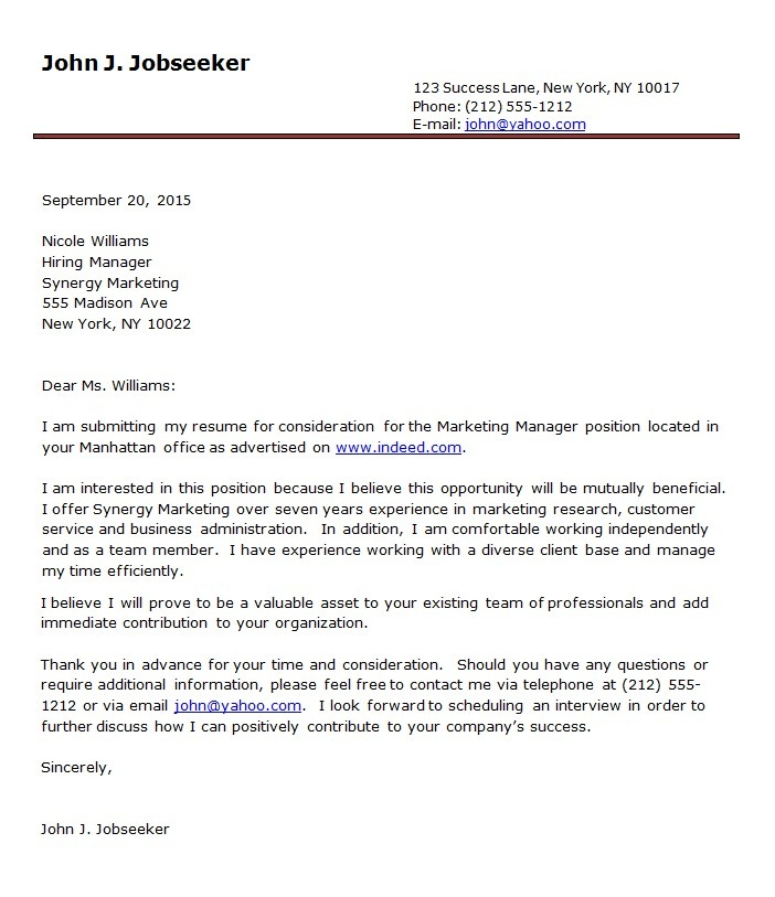 123 best Letter Examples images on Pinterest Letter example - cover letter format free