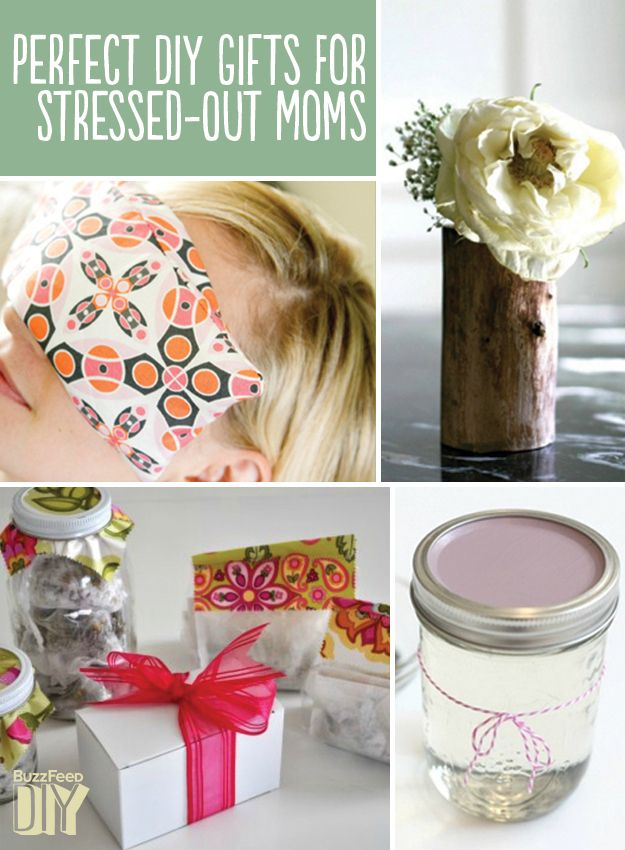 """22 Perfect DIY Gifts For Stressed-Out Moms - Lots of DIY gift ideas here! @Tammy Tarng Tarng Tarng Wood Zak  this would be cute too, have Victoria make a """"Spa Day"""" present."""