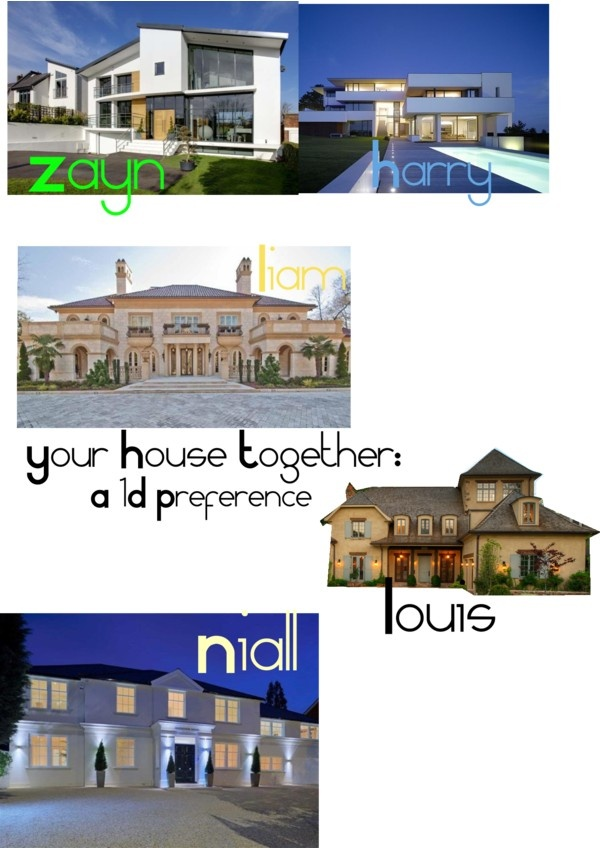 """""""House- 1D Preference"""" by shimmerskye ❤ liked on Polyvore"""