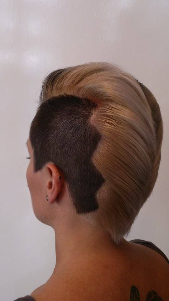 two toned with buzzed side