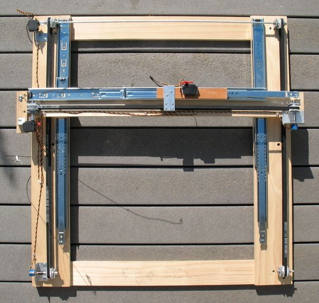 Low Cost Hobby Servo XY Table style - DIY CNC