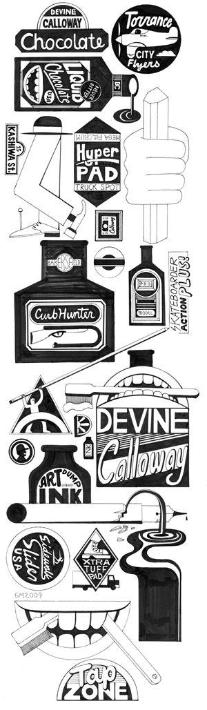 Geoff Mcfetridge - Chocolate Skateboards 15th year anniversary Devine Calloway Board