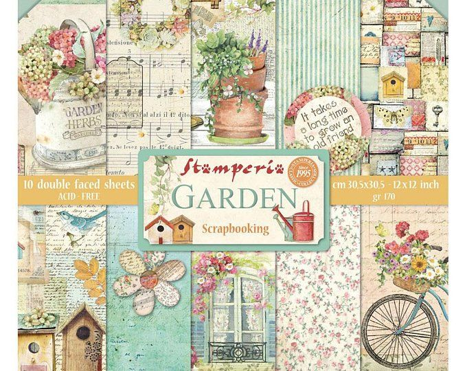 Stamperia Provence Paper Pack Double Sided Paper 12x12 Paper 12 X 12 Flower Paper Card Stock Paper Stamperia Provence 23 189 Paper Crafts Scrapbook Paper Scrapbook