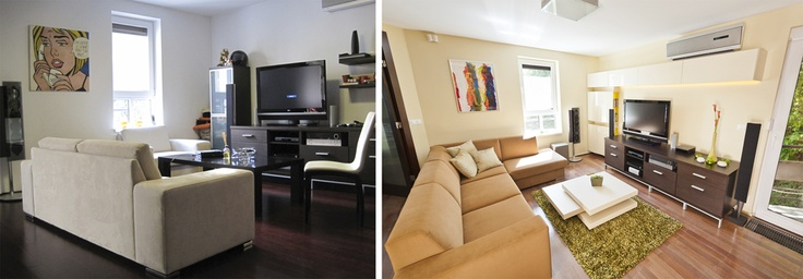 living room before-after