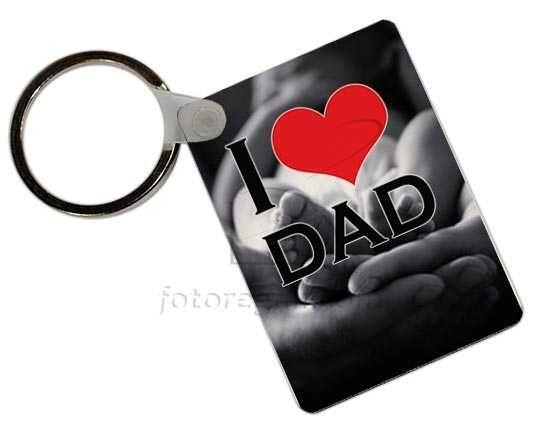 Portachiavi in Masonite Rettangolare Love dad