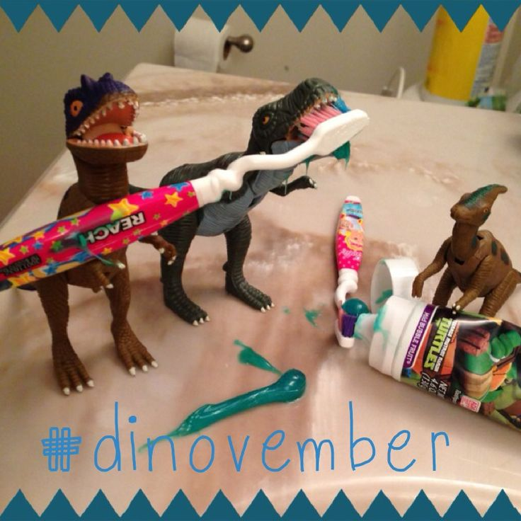 admire their attention to dental health #dinovember