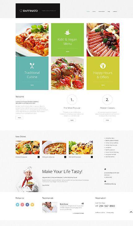 Template raffinato restaurant responsive wordpress
