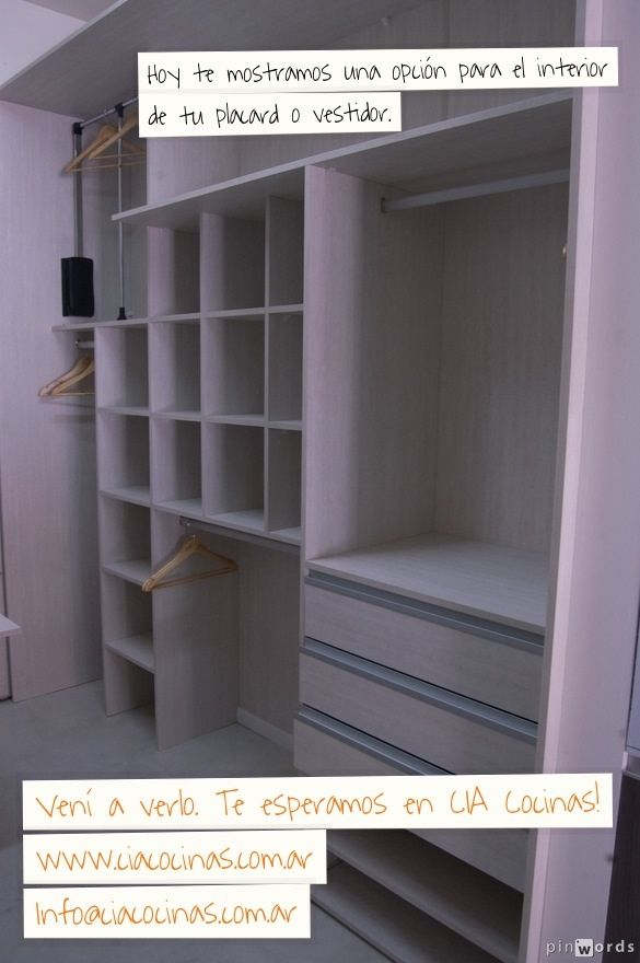 Opci n de interior de placard o vestidor by cia cocinas for Interieur placard