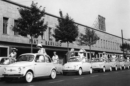 La nouvelle Fiat 500 est dévoilée en 1957