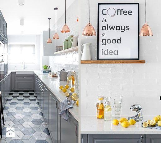 Biay Szary Czarny Zdjcie Od DOMagaa Design KUCHNIA Kitchen Pinterest Remodeling
