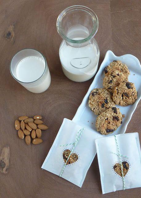 Galletitas de avena veganas: Papeles Pequeños
