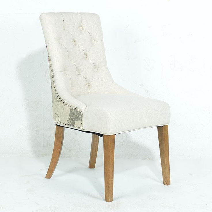FABRIC CHAIR IN BEIGE COLOR