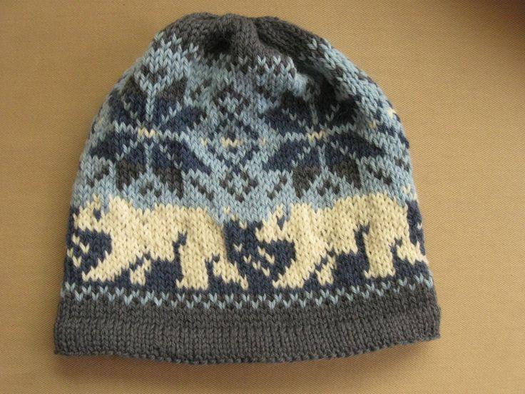 polar bear knitting chart - Google Search