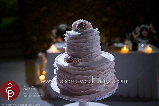 Pale Pink Romantic Santorini Wedding Cake by Petran Art Pastry Chef I Wedding Event Planner Poema Weddings  Special Events I Flower Decor Wedding Wish I Catering Services Spicy Bites I Photography by Studio Phosart I Wedding Venue Aenaon Villas