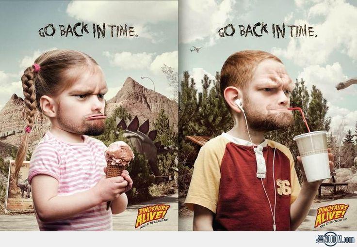 Calgary Zoo Advertising.