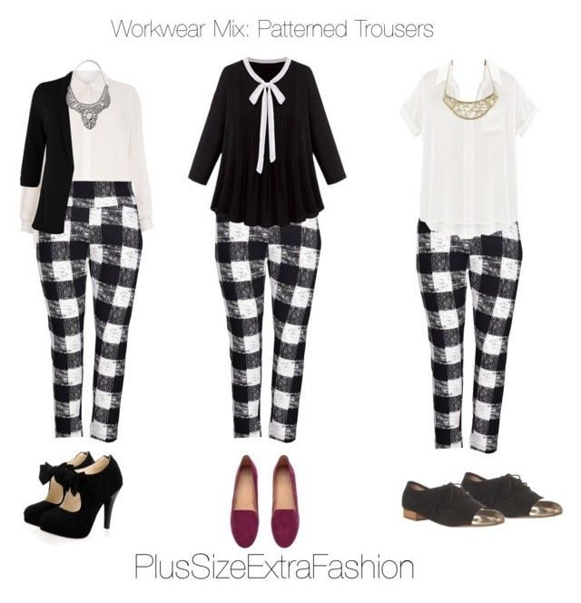 """""""Plus Size Workwear with Flair: Pattern Pants"""" by plussizeextrafashion ❤ liked on Polyvore featuring Evans, Melissa McCarthy Seven7, H&M, Dolce Vita, Charlotte Russe, Forever 21, WorkWear, plussize, plussizeextrafashion and plus size clothing"""