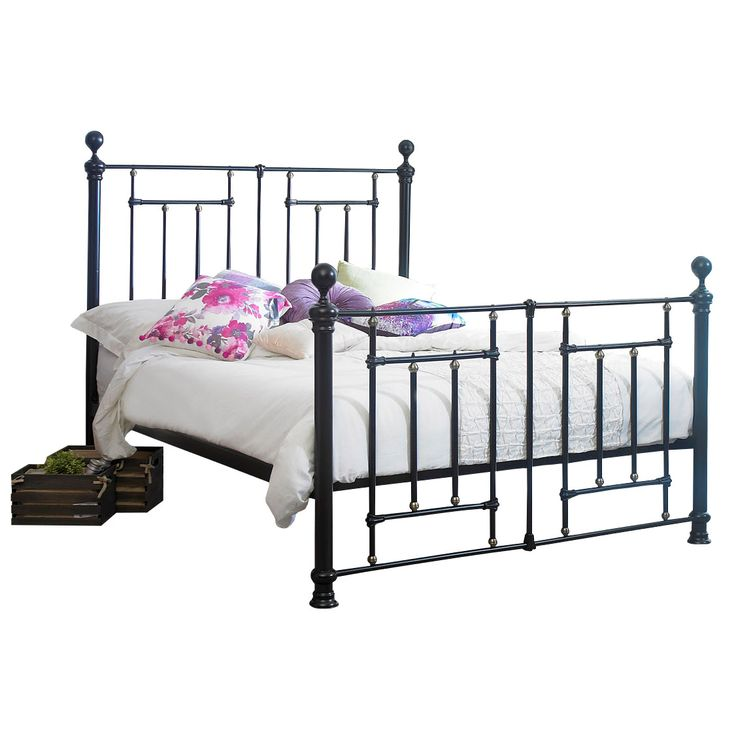The Fullerton metal bed frame features a unique blend of traditional and contemporary design. With Victorian/industrial inspired design features, the Fullerton is a striking piece that will stand out in any bedroom.