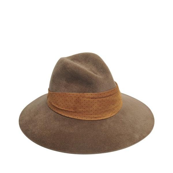 BORSALINO Hut mit Wildlederband Frauen