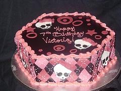 Monster High Children's Birthday Party Cake