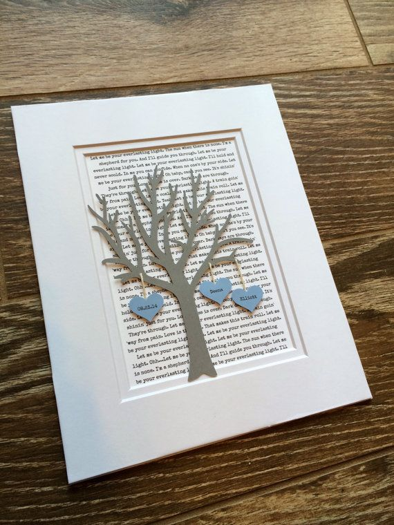 Personalized 1st Year Anniversary Gift Tree Paper by HandmadeHQ