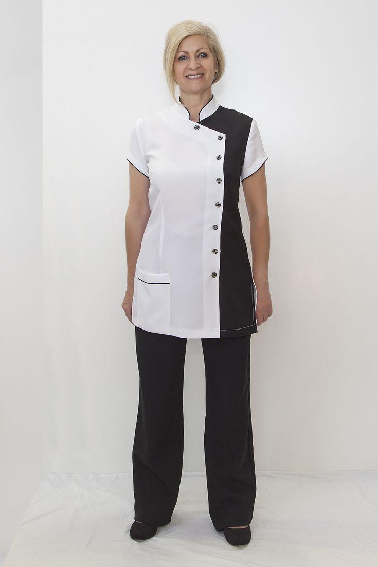 Super smart black & white uniform for dental or pharmacy