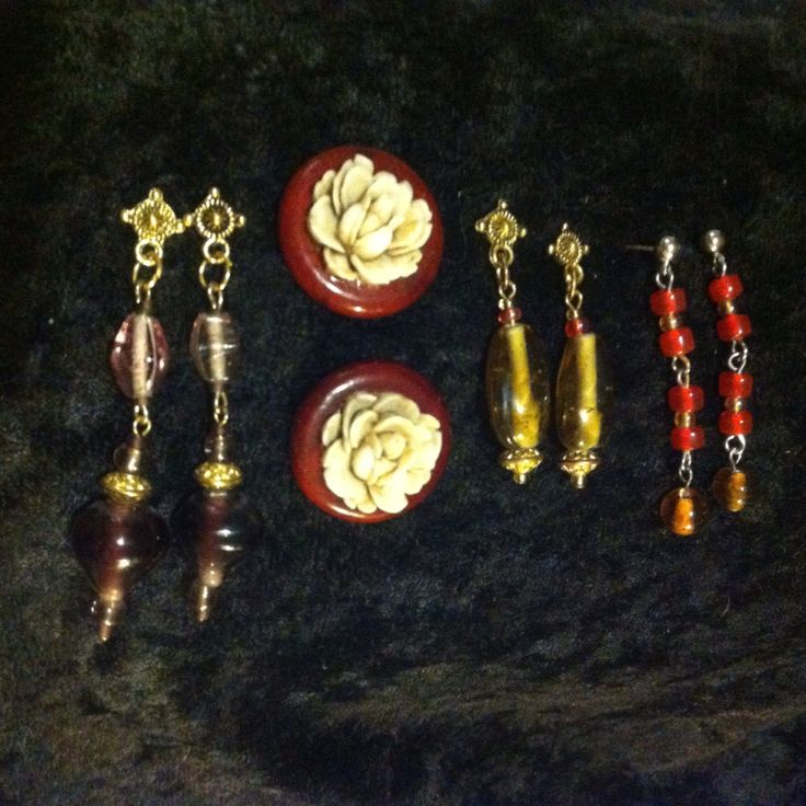 Post earrings.