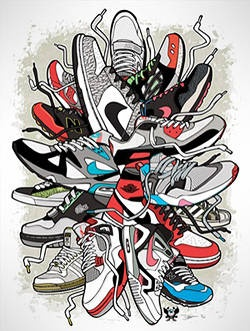 The Sneaker Art of Daymon Greulich