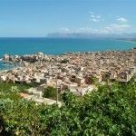 View on Castellammare del Golfo, built on the slopes of its mountain, with its shape of amphitheater, facing the sea, because it is there that life took place http://www.dreamsicilyvillas.com/guide/sicilian-cities/castellammare-del-golfo/