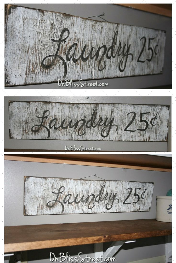 Pin for later! DIY painted Vintage sign! http___onblissstreet.com_2015_08_easy-diy-vintage-sign.html 