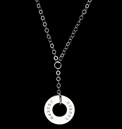 Tart Pendant from Citrus Silver on the Mini Circle Link Drop Chain http://www.citrussilver.com