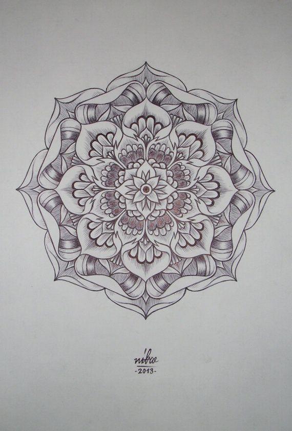 Flower Mandala Original art by genadiivasilev on Etsy