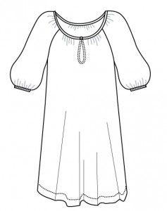 Mie kjole/top XS-XXXL Kjole/skjorte/top m/rynk XS (S) M (L) XL (XXL) XXXL Sværhedsgrad *  Bemærk, at modellen er ekstrem vid - så hvis du ønsker moderat vidde så gå evt. en størrelse eller 2 ned.  Beskrivelse Top model A, skjorte model B eller kjole model C. Modellerne er med raglansnit og stor vidde. Modellen bliver rynket til i halsen, og afsluttes med et smalt stykke skråbånd. Halsåbningen lukkes med en trense og en lille perleknap. Til modellen kan l ves et fint bælte, som lukkes med små…