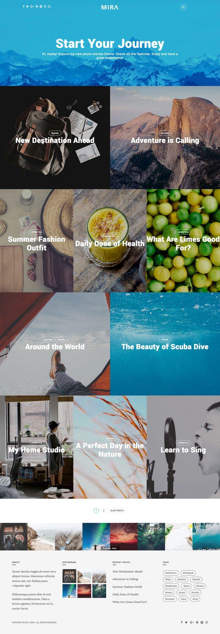 Mira  A Photo Stories WordPress Theme (More web design inspiration at topdesigninspiration.com) #design #web #webdesign #sitedesign #responsive #ux #ui