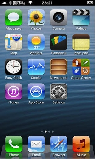 iPhone 5 iOS 6 Retina HD Pro v1.0  Requirements: 1.6 and up  Overview: iPhone 5 iOS 6 Retina HD Pro is an iPhone Style launcher for Android.