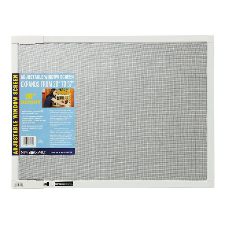 Shop New York Wire 15-in Adjustable Window Screen at Lowes.com